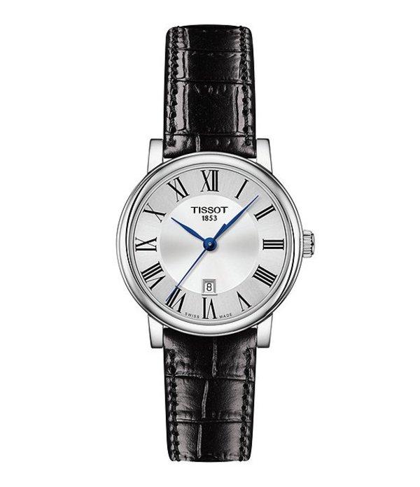 ティソット レディース 腕時計 アクセサリー Ladies Carson Premium Leather Strap Watch Black