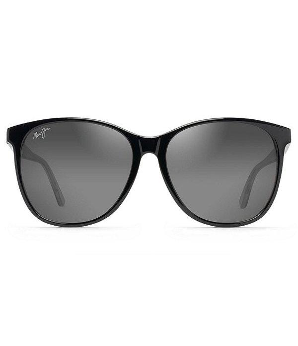 マウイジム レディース サングラス・アイウェア アクセサリー Isola Oversized Polarized Sunglasses Black