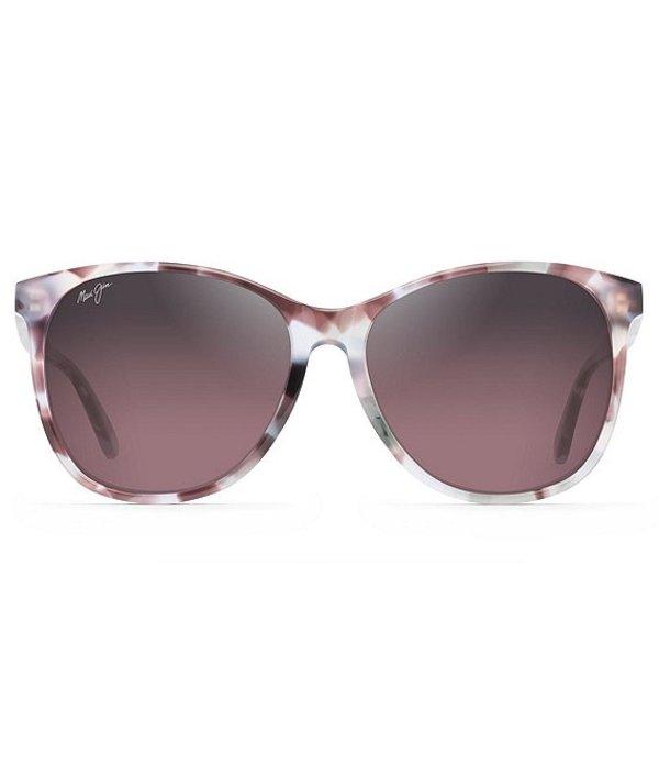マウイジム レディース サングラス・アイウェア アクセサリー Isola Oversized Polarized Sunglasses Purple Havana