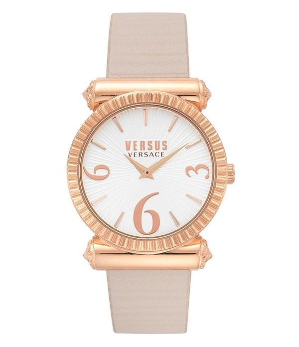 ヴェルサーチ レディース 腕時計 アクセサリー Republique Beige Leather Watch Beige