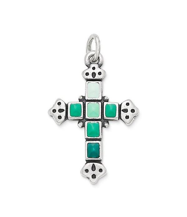 ジェームズ エイヴリー レディース ネックレス・チョーカー アクセサリー Enamel Mosaic Cross Pendant Sterling Multicolor