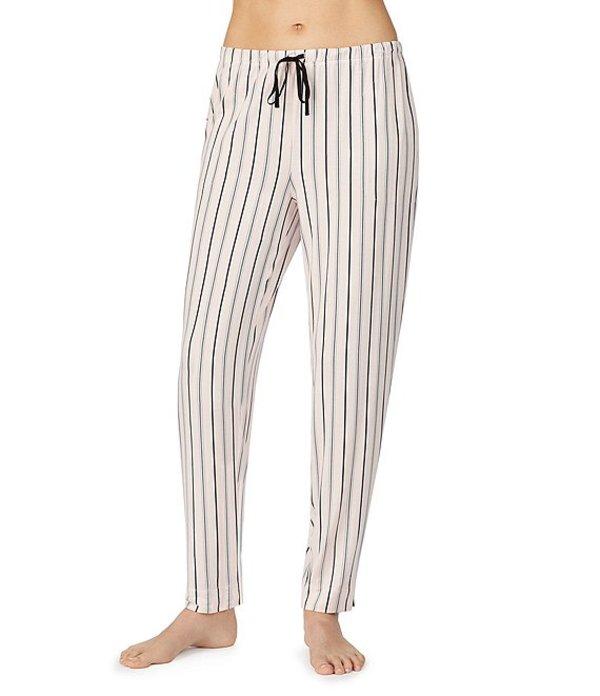ダナキャラン レディース カジュアルパンツ ボトムス Striped Print Jersey Knit Sleep Pants Pink Stripe