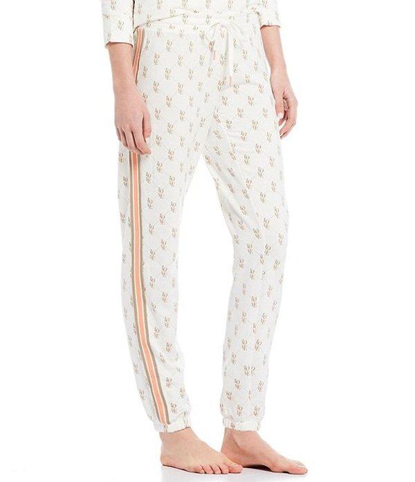ピージェイサルベージ レディース カジュアルパンツ ボトムス Love Status Print Fleece Jogger Sleep Pants Ivory