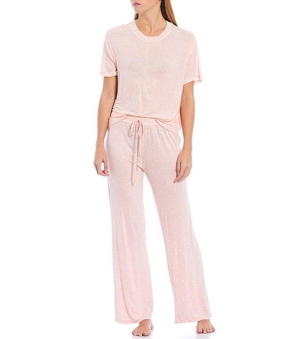ハニーデュー レディース ナイトウェア アンダーウェア All American Heart Print Jersey Pajama Set Lover Hearts