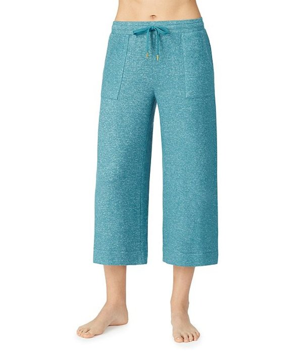 ダナキャラン レディース カジュアルパンツ ボトムス Revive Marled Brushed Knit Cropped Sleep Pants Dark Teal
