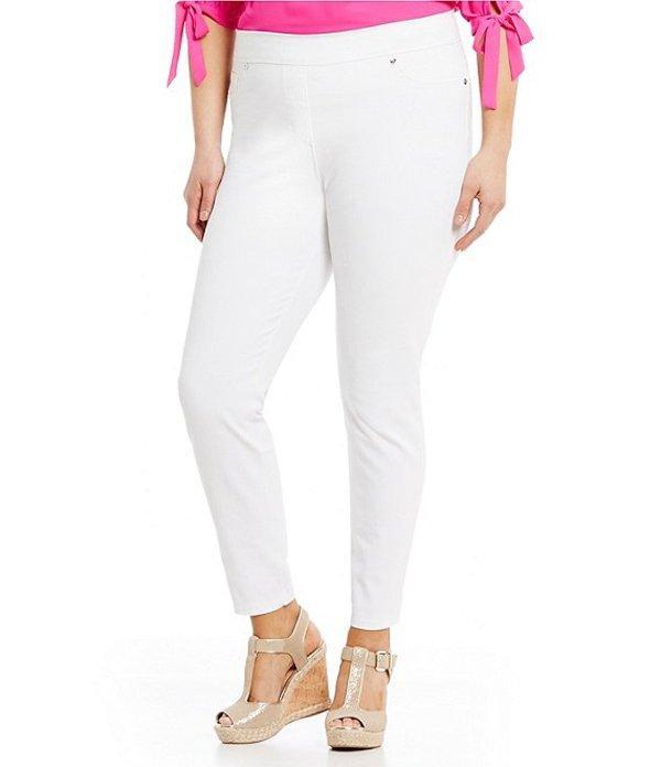 ピーター ナイガード レディース デニムパンツ ボトムス Nygard SLIMS Plus Luxe Denim Skinny Leg Ankle Pants White