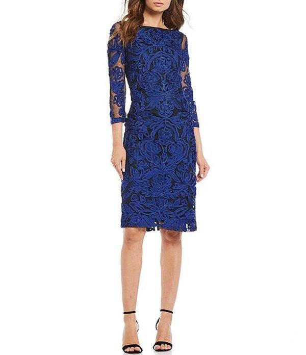 ジェイエスコレクションズ レディース ワンピース トップス Embroidered Soutache Cocktail Dress Admiral Blue