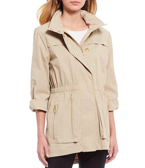 アントニオ メラーニ レディース ジャケット・ブルゾン アウター Erin Raincoat with Detachable Hood Khaki