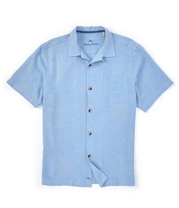 トッミーバハマ メンズ シャツ トップス Al Fresco Tropics Silk Jacquard Short-Sleeve Woven Shirt Light Sky