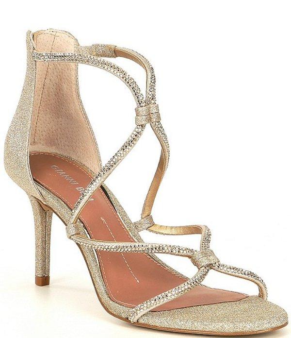 ジャンビニ レディース サンダル シューズ Livisa Rhinestone Cross-Strap Sandals Sand Gold