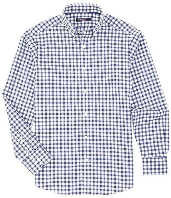ダニエル クレミュ メンズ シャツ トップス Check Poplin Long-Sleeve Woven Shirt White