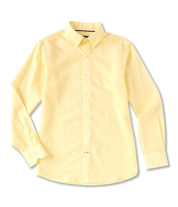 ダニエル クレミュ メンズ シャツ トップス Solid Poplin Long-Sleeve Woven Shirt Sunshine Yellow