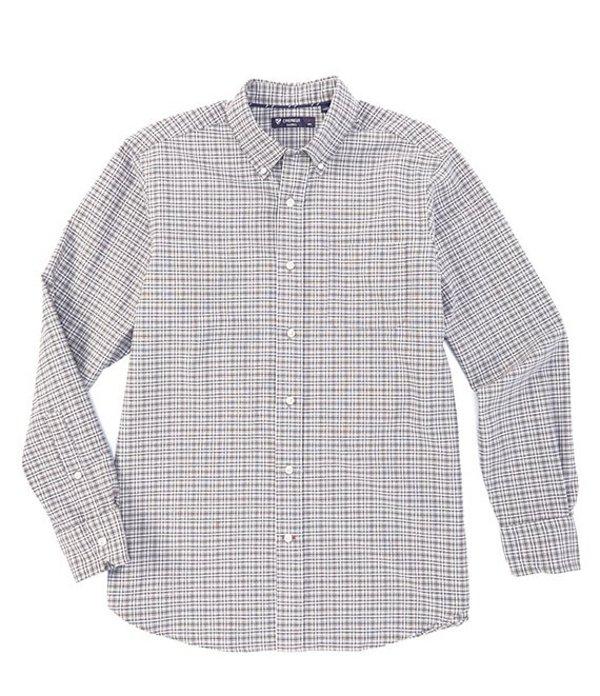 ダニエル クレミュ メンズ シャツ トップス Plaid Oxford Multi-Color Long-Sleeve Woven Shirt Grey Heather