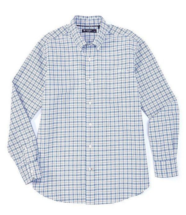 ダニエル クレミュ メンズ シャツ トップス Plaid Oxford Multi-Color Long-Sleeve Woven Shirt White
