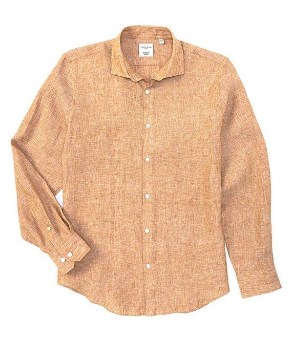 ムラノ メンズ シャツ トップス Slim-Fit Linen Long-Sleeve Woven Shirt Rust/Copper