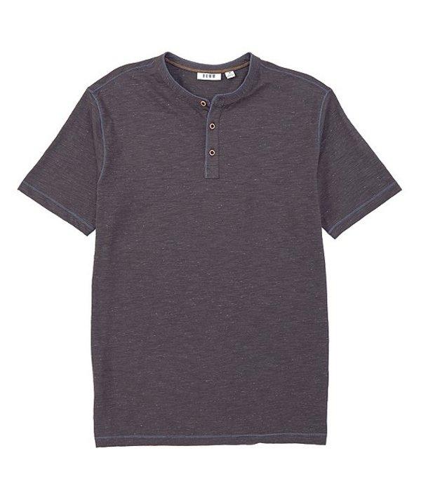 ラウン メンズ シャツ トップス Short-Sleeve Slub Henley Medium Charcoal