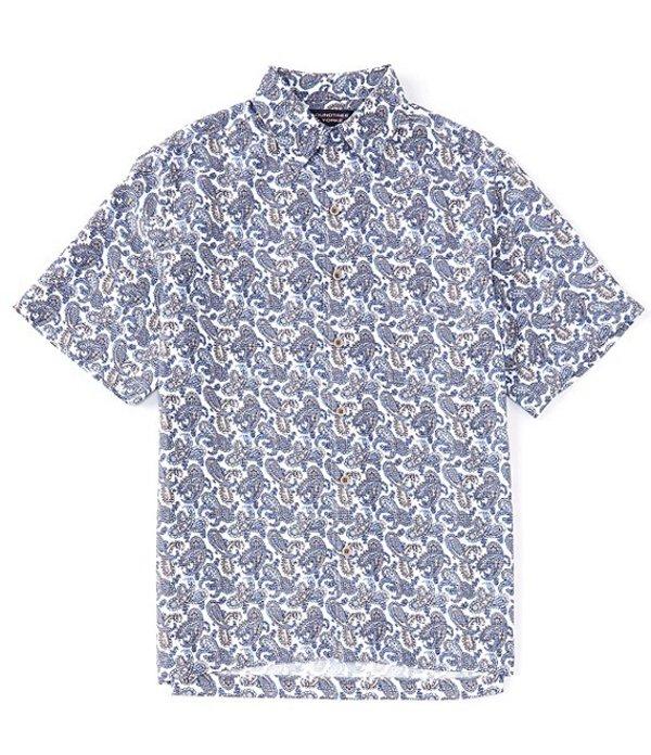 ラウンドトゥリーアンドヨーク メンズ シャツ トップス Short-Sleeve Paisley Printed Shirt White