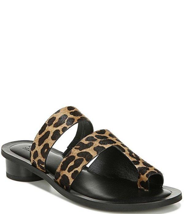 フランコサルト レディース サンダル シューズ Sarto by Franco Sarto Trixie Leopard Print Calf Hair Toe Ring Sandals Leopard