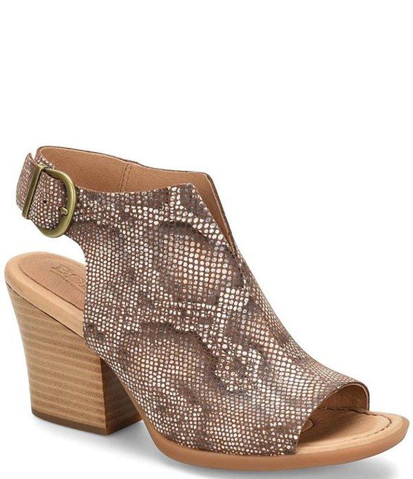 ボーン レディース ブーツ・レインブーツ シューズ Moraine Snake Print Leather Shooties Brown