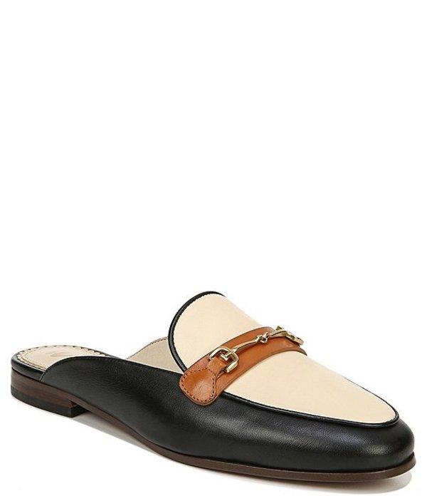 サムエデルマン レディース サンダル シューズ Lolan Colorblock Leather Bit Buckle Mules Summer Sand/Black/Ginger Brown