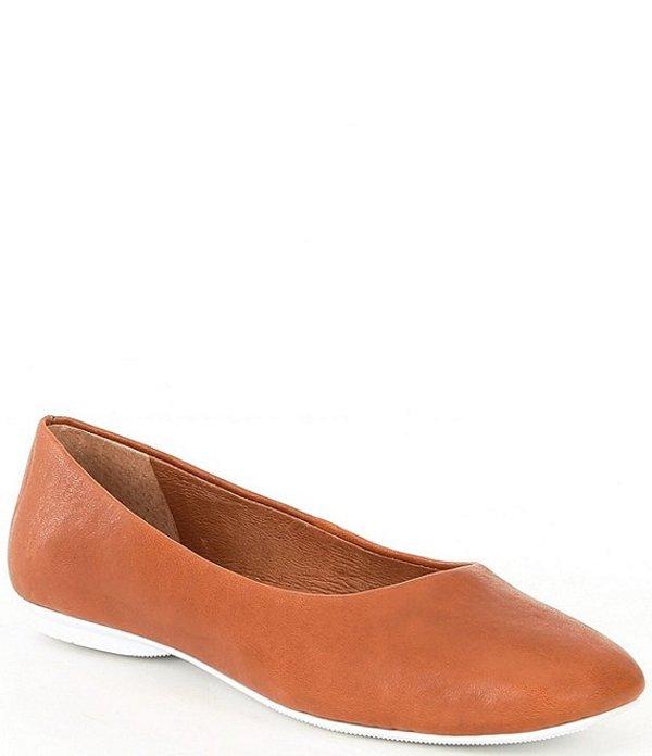 ジェントルソウルズ レディース パンプス シューズ Eugene Travel Leather Ballet Flats Cognac