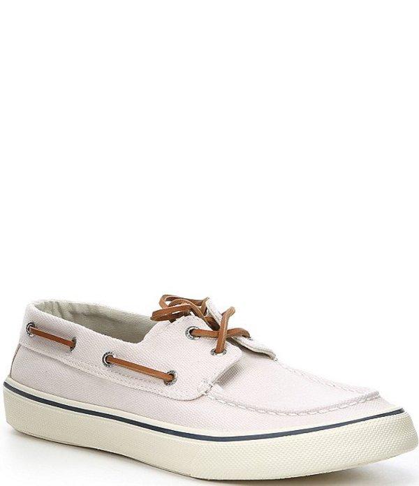 スペリー メンズ デッキシューズ シューズ Men's Bahama II Canvas Lace-Up Sneakers Off White