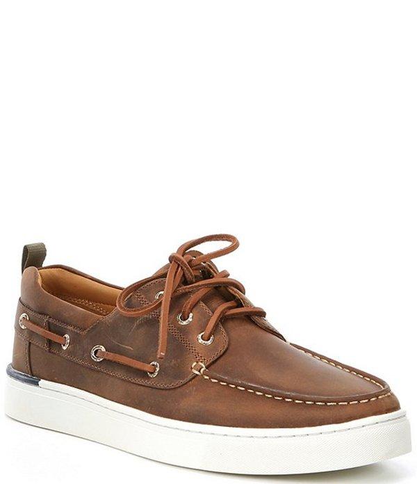 スペリー メンズ デッキシューズ シューズ Men's Gold Victura 3-Eye Leather Sneakers Brown