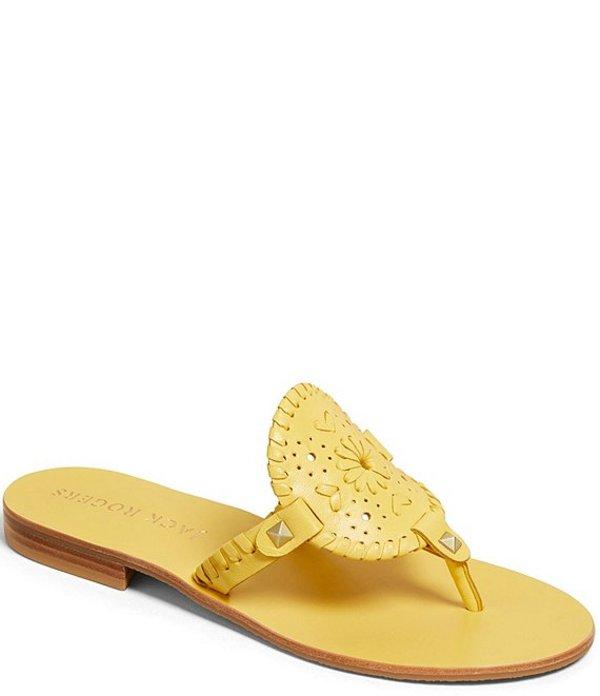 ジャックロジャース レディース サンダル シューズ Georgica Leather Whipstich and Stud Detail Sandals Sunflower