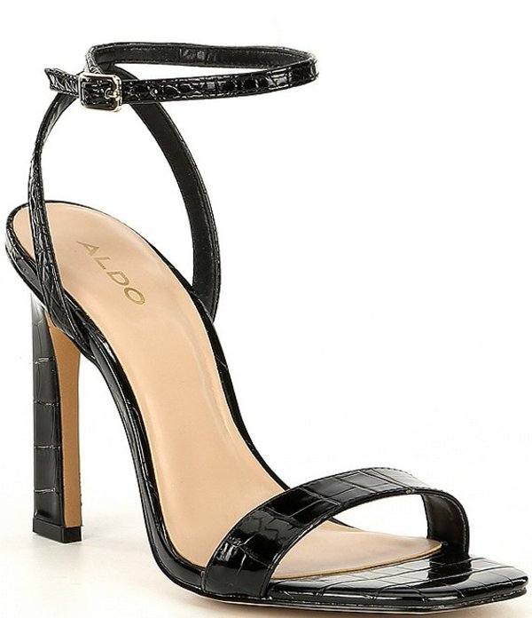 アルド レディース サンダル シューズ Gorgeous Two-Piece Square Toe Dress Sandals Black
