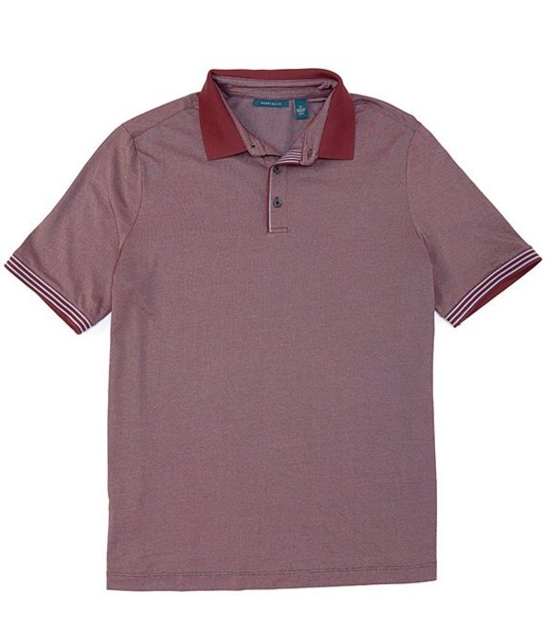 ペリーエリス メンズ シャツ トップス Big & Tall Solid Performance Stretch Short-Sleeve Polo Shirt Fig