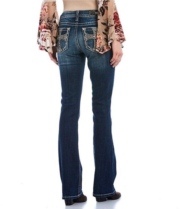 ミスミー レディース デニムパンツ ボトムス Holy Heart Embellished Cross Bootcut Jeans Dark Blue