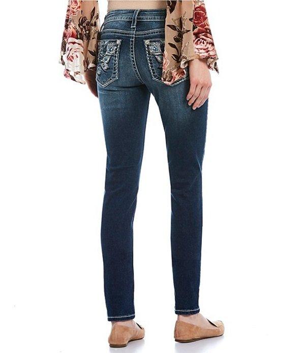 ミスミー レディース デニムパンツ ボトムス Dream Love Embellished Dreamcatcher Pocket Skinny Jeans Dark Blue