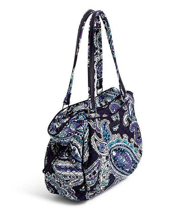 ベラブラッドリー レディース ハンドバッグ バッグ Iconic Glenna Printed Satchel Bag Deep Night Paisley