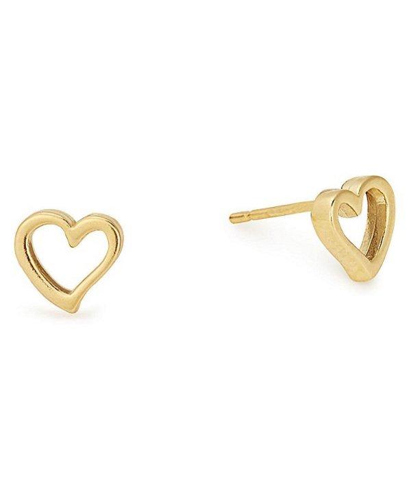 アレックスアンドアニ レディース ピアス・イヤリング アクセサリー Heart Stud Earrings Gold