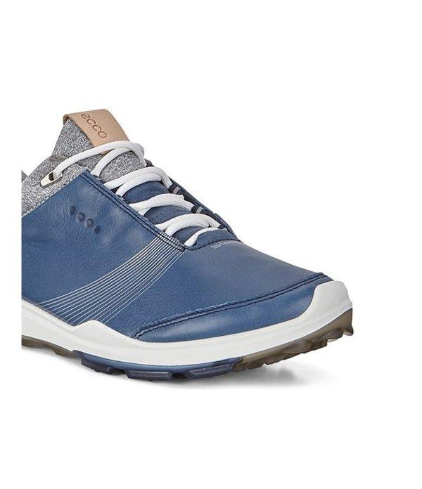 エコー レディース ドレスシューズ シューズ Golf Biom Hybrid 3 GTX Leather Golf Shoes Denim Blue
