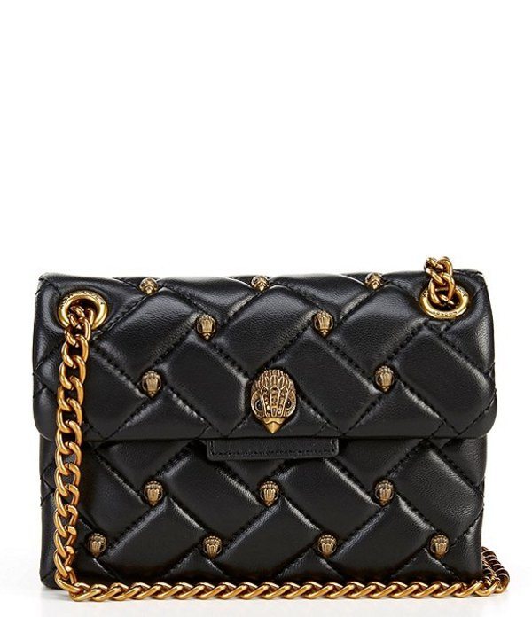カートジェイガー レディース ショルダーバッグ バッグ Mini Kensington Quilted Crossbody Bag Charcoal