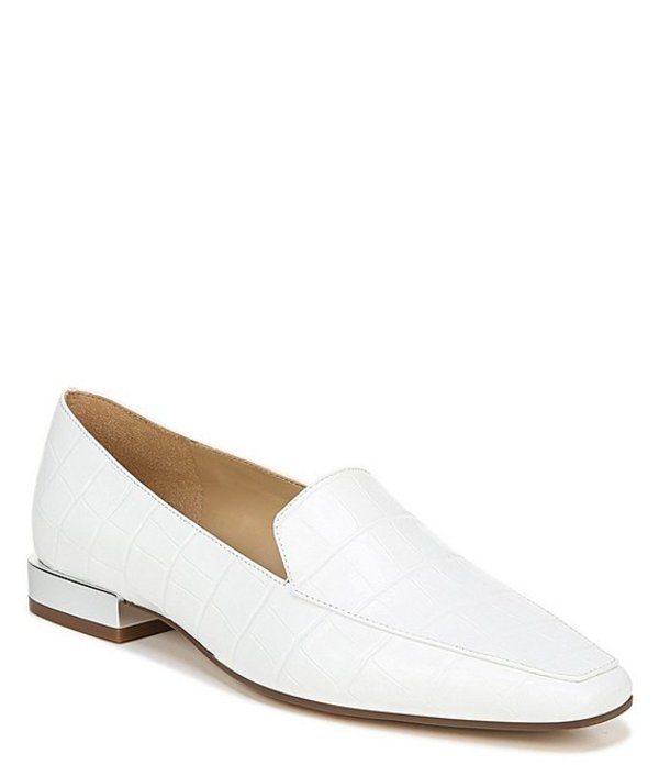 ナチュライザー レディース スリッポン・ローファー シューズ Clea Croco Embossed Leather Loafers White Croco