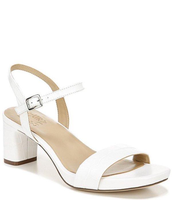 ナチュライザー レディース サンダル シューズ Ivy Croco Embossed Leather Dress Sandals White Croco