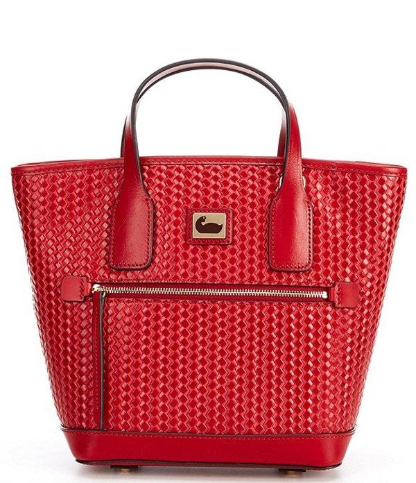 ドーネイアンドバーク レディース ハンドバッグ バッグ Camden Woven Collection Leather Small Convertible Tote Bag Strawberry