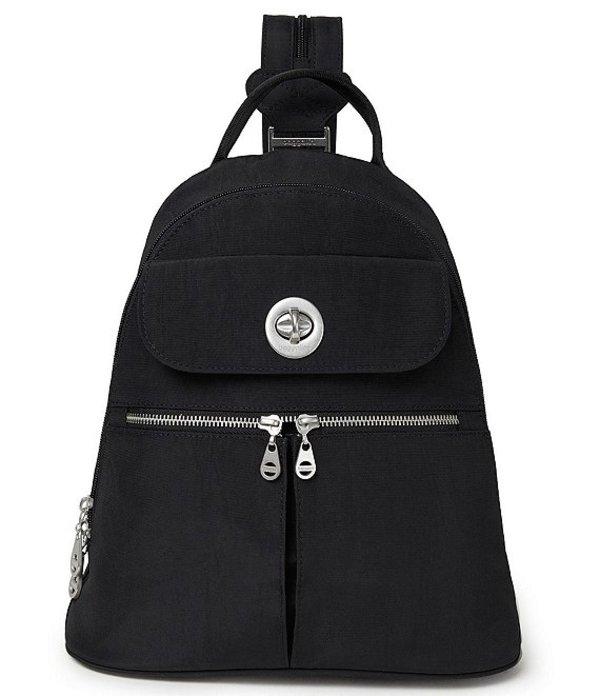 バッガリーニ レディース バックパック・リュックサック バッグ Naples Fabric Convertible Backpack Black