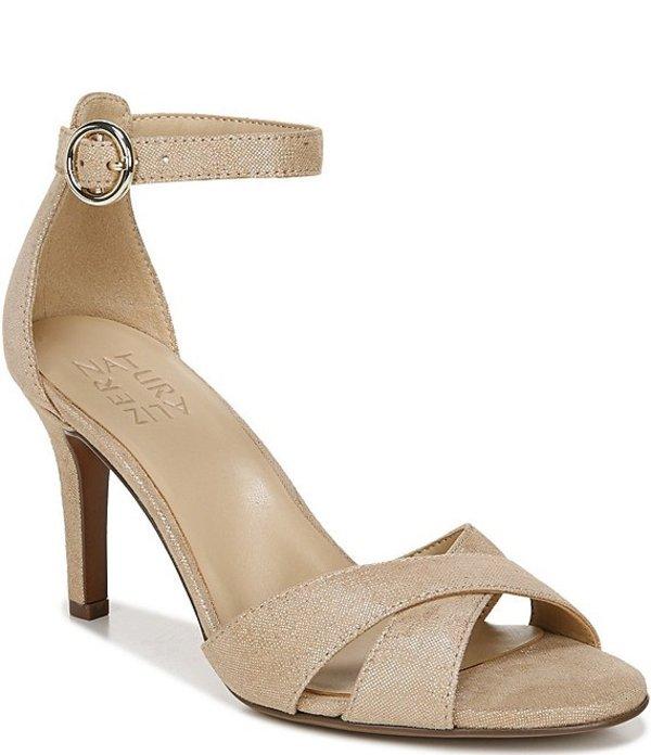 ナチュライザー レディース サンダル シューズ Keyson Ankle Strap Dress Sandals Taupe Gold