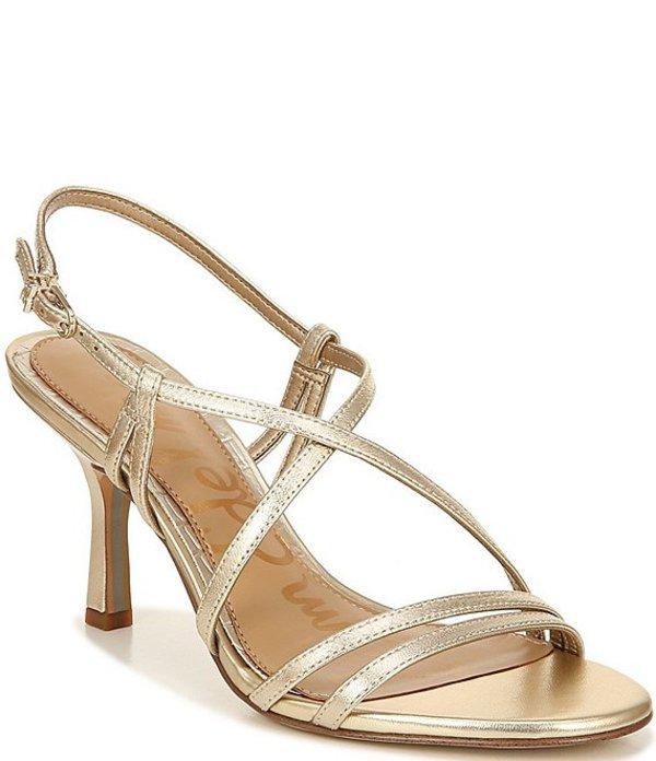 サムエデルマン レディース サンダル シューズ Paislee Leather Ankle Strap Dress Sandals Molten Gold