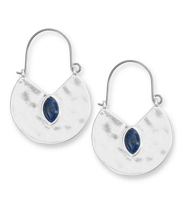 ラッキーブランド レディース ピアス・イヤリング アクセサリー Reversible Lapis Hoop Earrings Silver