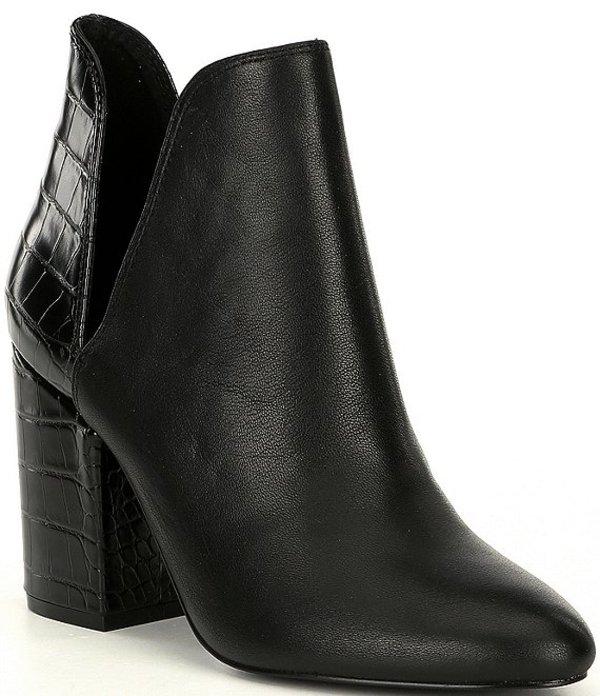 スティーブ マデン レディース ブーツ・レインブーツ シューズ Rookie Leather Block Heel Booties Black/Multi