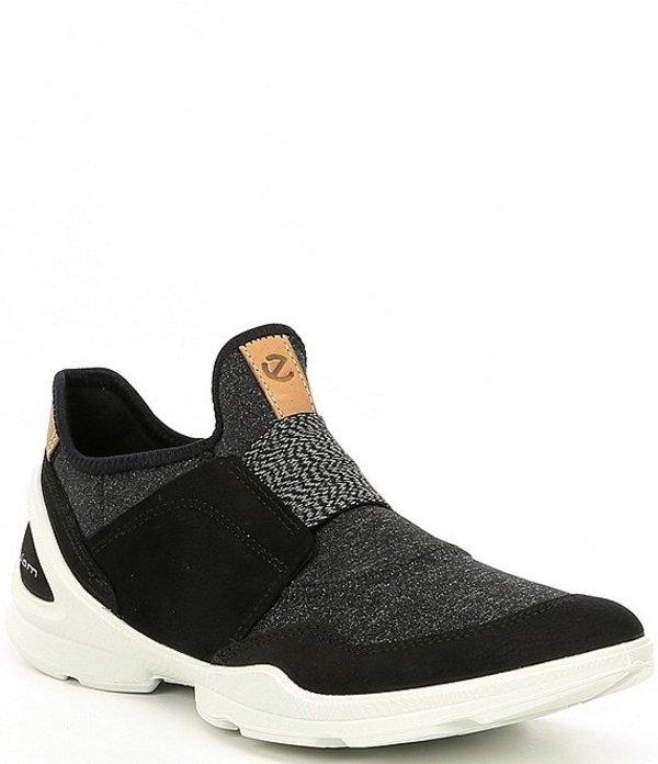 エコー レディース スリッポン・ローファー シューズ Biom Street Strap Slip On Sneakers Black/Black