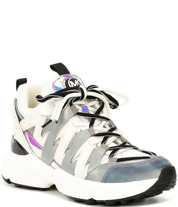 マイケルコース レディース スニーカー シューズ Hero Lace-Up Wedge Trainers Optic White/Silver