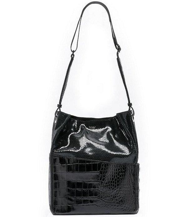 ハミット レディース ショルダーバッグ バッグ Davis Embossed Leather Shoulder Bag Powder