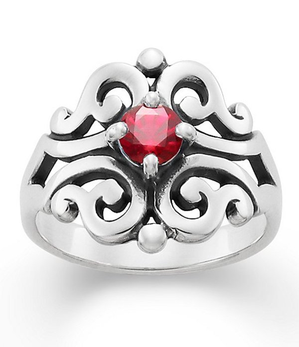 Lace Ring Ruby レディース July Lab-Created エイヴリー 指輪 アクセサリー with ジェームズ Birthstone Ruby Sterling Spanish