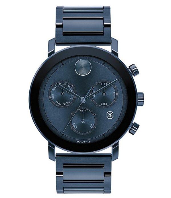 モバド メンズ 腕時計 アクセサリー Bold Men's Evolution Blue Stainless Steel IP Chronograph Watch Navy