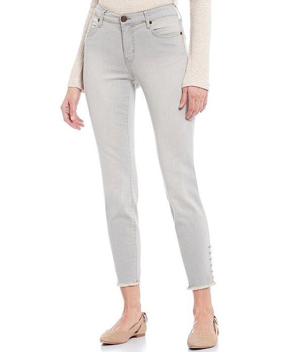 コード ブルー レディース デニムパンツ ボトムス Classic Ankle Fray Stud Embellished Hem Jeans Moonstone